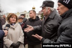 Кацярына Руткоўская, намесьніца старшыні райвыканкаму, на «Народным сходзе» 19 сакавіка