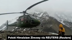 A helicopter takes off from Nanga Parbat, nicknamed Killer Mountain, in Pakistan (file photo)