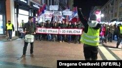 """Protest """"1 od 5 miliona"""" u Nišu, 8. februar"""