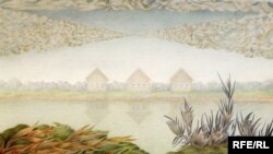 Валентина Кропивницкая. «Три домика». 1986