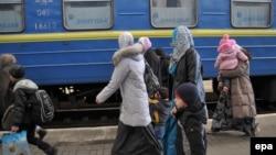 Львовқа келіп жеткен Қырым татарлары.
