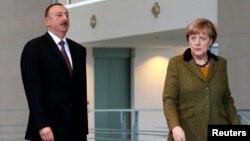 Գերմանիայի կանցլեր Անգելա Մերկելն ու Ադրբեջանի նախագահ Իլհամ Ալիևը, արխիվ