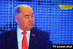 Қазақстан коммунистік халықтық партиясының жетекшісі Владислав Косарев. Алматы, 12 қаңтар 2012 жыл.