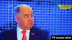 Қазақстан коммунистік халық партиясының жетекшісі Владислав Косарев. Алматы, 12 қаңтар 2012 жыл.