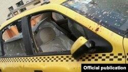 Машина, в которой ехал иранский оппозиционный депутат, когда на него напали (Шираз, 9 марта 2015 года)