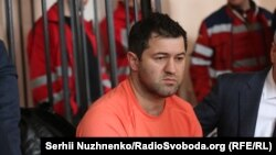 Roman Nasirov at his Kyiv court hearing on March 6.