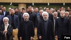 روسای سه قوه جمهوری اسلامی به همراه دبیر شورای نگهبان (عکس از آرشیو)