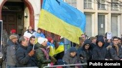 Проукраїнська акція у Лондоні. Січень 2015 року