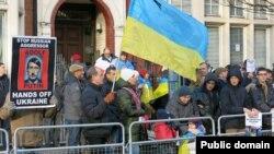 Протест проти російської агресії в Україні. Лондон, 18 січня 2015 року