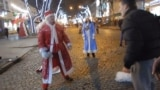 UKRAINE - Odessa Santa fighting