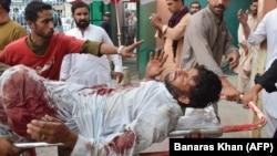 آرشیف، زخمی یکی از انفجار در پاکستان
