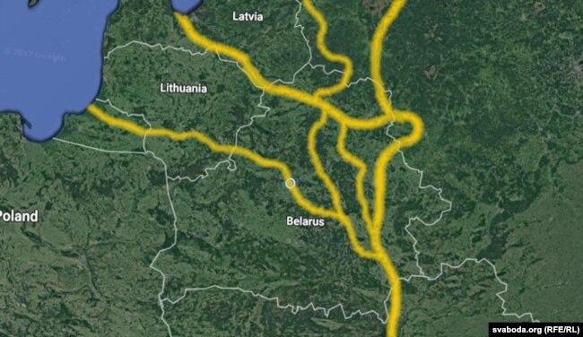 Шлях з варагаў у грэкі. Менавіта ім нарвэжцы абгрунтавалі прэтэнзіі на тэрыторыі ва Ўсходняй Эўропе.