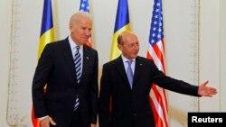 Joe Biden dhe Traian Basecu , 21 maj 2015
