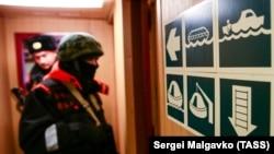 Работа береговой охраны Пограничной службы ФСБ России в Керченском проливе.