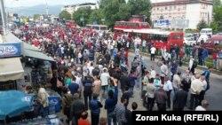 Një nga protestat në Shkup, prill 2016