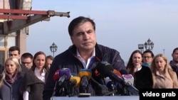 Михаил Саакашвили заявляет об отставке в яростной речи. 7 ноября