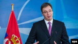 Serbian Prime Minister Aleksandar Vucic dismissed Western criticism of recent arms purchases.