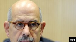 "IAEA chief Muhammad El-Baradei at nuclear talks with Iran in Vienna. ""I believe we are making progress,"" he says."