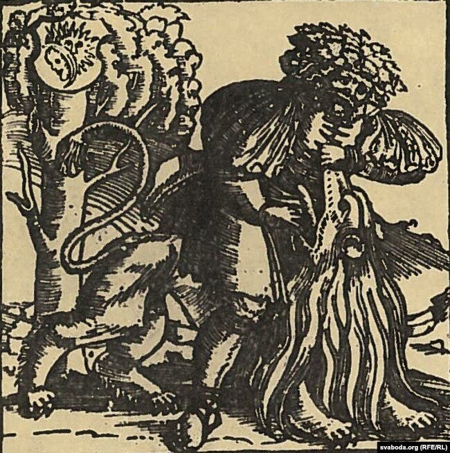Фрагмэнт тытульнага ліста Кнігі Судзьдзяў. 1519 год. Пэтр Войт прапануе лічыць гэтую выяву крыптапартрэтам караля і вялікага князя Жыгімонта І Старога.