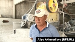 "Директор компании ""Мрамортас"" Мухаметжан Капсаламов. Текели, 14 августа 2015 года."
