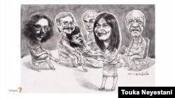 سوسن تسلیمی و مهمانانش/ کاری از توکا نیستانی
