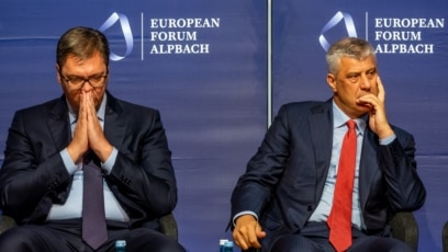 Predsednik Srbije Aleksandar Vučić i predsednik Kosova Hašim Tači