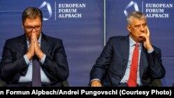 Presidenti i Kosovës Hashim Thaçi dhe Presidenti i Serbisë, Aleksandar Vuçiq (foto arkiv)