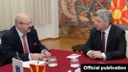 Makednoski predsjednik Gjorge Ivanov (D) i Lamberto Zannier