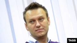 Russian opposition activist Aleksei Navalny attends a court hearing in Kirov on December 5.