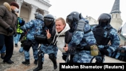 Задержания в Москве, 31 января 2021 года