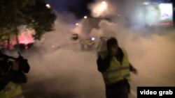 Çernogoriýada polisiýa protestçiler bilen çaknyşdy.