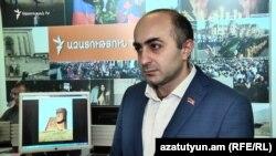 Оппозиционный депутат парламента Нагорного Карабаха Айк Ханумян, 20 ноября 2018 г.