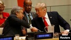 Sekretari i Përgjithshëm i OKB-së, Antonio Guterres dhe presidenti amerikan, Donald Trump.