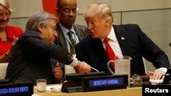Дональд Трамп и Генеральный секретарь ООН Антониу Гутерриш.
