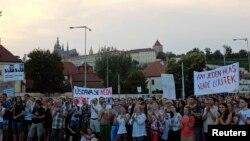 Антиправительственная демонстрация в Праге
