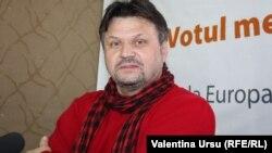 Vitalie Răileanu în studioul Europei Libere la Chișinău