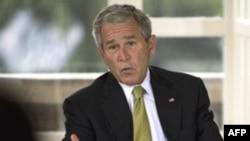 جرج بوش برای آخرین بار به عنوان رییس جمهوری آمریکا به اروپا سفر کرده است. (عکس از AFP)