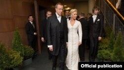Президент Эстонии с супругой, фото Delfi.ee