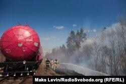 Гасіння лісової пожежі. Житомирщина. 18 квітня 2020 року