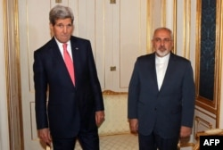 Zarif worked closely with U.S. Secretary of State John Kerry (left) during negotiations to clinch the Iran nuclear deal in 2015.