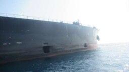 تصویر منتشر شده توسط شرکت ملی نفتکش ایران از نفتکش سابیتی که گفته شده بود در دریای سرخ مورد حمله قرار گرفته است.