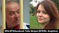 A combo photo of Sergei Skripal (left) and his daughter Yulia
