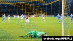 Футбольны матч БАТЭ - «Шахтар» у Барысаве, 2014 год