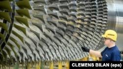 Siemens ишканасынын газ түтүгү