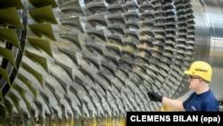 Производство турбин на заводе Siemens в Германии
