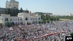 Pamje nga protestat në Siri - arkiv
