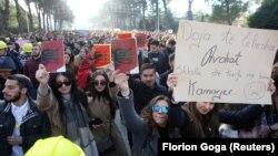 Protestat e studentëve në Tiranë. 11 dhjetor, 2018