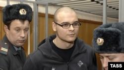 Максим Марцинкевич, засуджений до 3,5 років позбавлення волі за розпалювання міжнаціональної ворожнечі, Москва, 16 січня 2008 року