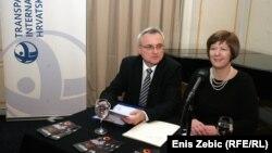 Don Markušić i Davorka Budimir na predstavljanju izvještaja, 3. prosinac 2013.