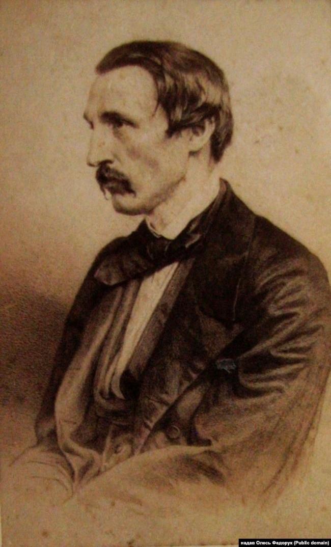 Пантелеймон Куліш (1860 рік). Літографія Адольфа Мульєрона